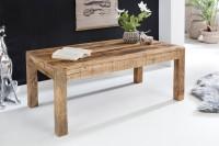 Design  Couchtisch im rustikalen Landhausstil Grosse, rechteckige Tischplatte zur Ablage von diversen Utensilien Fester Stand dank der massiven Tischbeine...