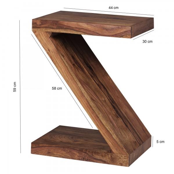 Wofuer geeignet? Mit einer Hoehe von 59 cm ist der Tisch individuell einsetzbar - Durch die Z Form entsteht ein weiteres Ablagefach fuer Zeitungen oder weitere Gegenstaende.   FSC® zertifizierte Ware: Bei dem Material handelt es sich um FSC® zertif