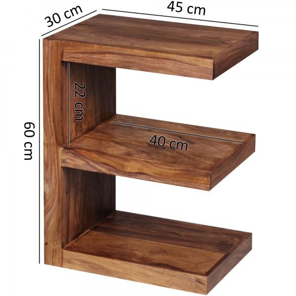 Wofuer geeignet? Mit einer Hoehe von 60 cm ist der Tisch individuell einsetzbar - Durch die E Form entstehen weitere Ablagefaecher fuer Zeitungen oder weitere Gegenstaende.   FSC® zertifizierte Ware: Bei dem Material handelt es sich um FSC® zertifi