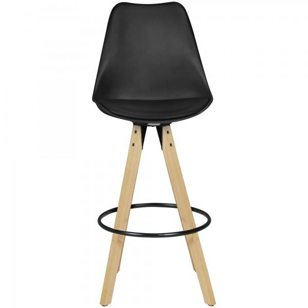 Design  Barhocker in skandinavischem Design Ueppige Polsterung der Sitzflaeche &amp  Rueckenlehne Ring um die Beine dient als Fussablage Sitzschale in ergonomischer Form Abmessungen  Sitzhoehe: 77 cm Gesamthoehe: 113 cm Hoehe Fussablage: 39 cm Sitzfl