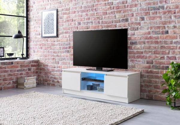 Design  Lowboard in modernem und zeitlosem Design TV-Unterschrank mit mehreren Ablagemoeglichkeiten und zwei Faechern Abmessungen  Breite: 120 cm  Hoehe: 40 cm Tiefe: 39 cm Tuerfaecher: 35 x 28,5 x 37 cm Ablagen: 44 x 36/37 x 15 cm Farbe  Komplettes