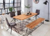 Design  Ein Esstisch im modernen Design mit abgerundeten Tischecken Rechteckige Tischlatte zur Ablage von Geschirr und diversen Gegenstaenden Vier stabile...