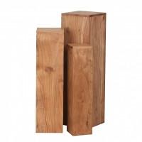 Design  Attraktive Beistelltische mit einzigartiger Maserung Dreier-Set auch alleinstehend platzierbar Alle Ablageflaechen in quadratischer Form Jeder...