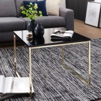 Design  Edler Couchtisch in modernem Design Filigrane, farbig lackierte Tischbeine  Glaenzende Tischplatte als absolutes Highlight Abmessungen  Breite: 60 cm...