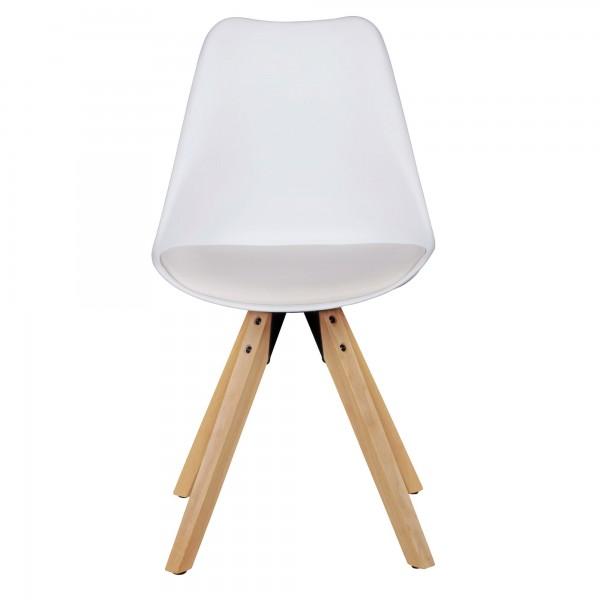 Design  Moderne Esszimmerstuehle mit edlem Stoffbezug Sitzschale mit fest verbundenem Sitzpolster Vier massive Standbeine als Kontrast zum weichen Sitzschalenbezug Abmessungen   Breite: 49 cm Hoehe: 87 cm Tiefe: 52 cm Sitzhoehe: 51 cm  Sitzflaeche (B