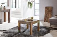 Design  Geradliniger Couchtisch im Shabby-Chic-Design Quadratische Tischplatte zur Ablage von diversen Utensilien Individuelle Maserung und Farbgestaltung...