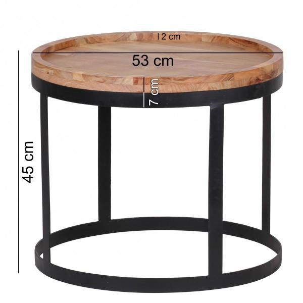Wofuer geeignet? Das 2er Set kann individuell im Wohnzimmer platziert werden - Die runden Tischplatten bieten ausreichend Platz - Rand aussen an der Tischlatte   FSC® zertifizierte Ware: Bei dem Material handelt es sich um FSC® zertifizierte Ware a