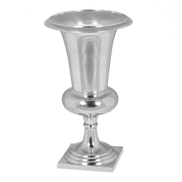 Wofuer geeignet? Diese Vase eignet sich perfekt fuer den Empfangsbereich oder zu Hause fuer den Wohn- und Essbereich. Sie ist ideal fuer Straeusse, Gestecke oder Topfpflanzen da sie auch mit Wasser befuellt werden kann.   Design  Massives und moderne
