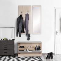 Design  Modernes Garderobenset im zeitlosen Design Ein eleganter Akzent fuer jedes Zuhause Viele Ablagemoeglichkeiten und ein Spiegel Ein Wandpaneel mit 10...