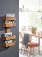 Wofuer geeignet? Der Zeitungsstaender laesst sich im Wohnzimmer als zusaetzliche Ablage platzieren - Ideal geeignet fuer Warteraeume - Montagematerial fuer...
