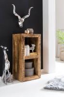 Design  Schlichtes, rustikales Cube Regal mit zwei Faechern Vielseitig nutzbares Standregal im rustikalen Landhaus Stil Zwei Innenraeume dienen als...