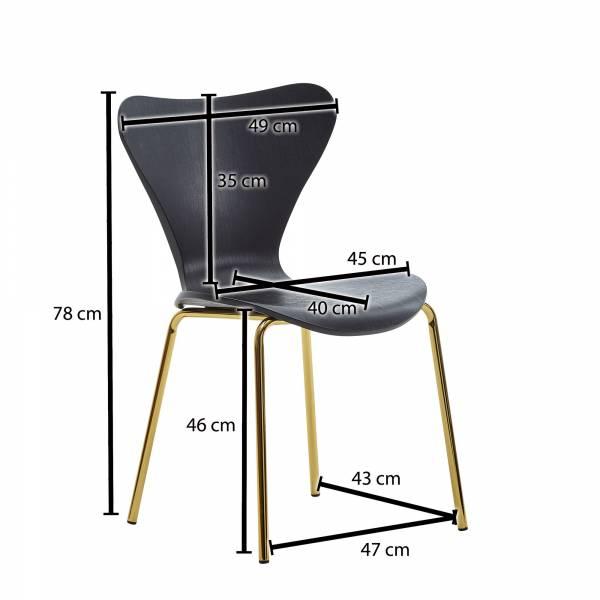 Design  Retro Esszimmerstuehle in skandinavischem Design Sitz und Beine in toller Farbkombination Angenehm geformte Sitzschale fuer ein bequemes Sitzgefuehl Abmessungen   Breite: 47 cm Hoehe: 78 cm Tiefe: 50 cm Sitzhoehe: 46 cm Sitzflaeche (BxT): 45