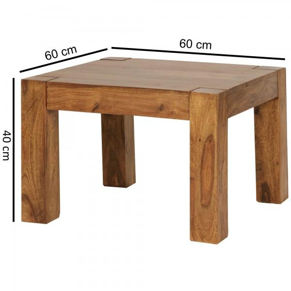 Sie sind auf der Suche nach einem modernen und praktischem Couchtisch fuer Ihr zuhause? Massivholz Couchtische von WOHNLING.   Wofuer geeignet? Mit einer Breite von 60 cm und einer Tiefe von 60 cm bietet er ausreichend Abstellmoeglichkeiten und sorgt