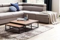 Design  Zwei unterschiedlich grosse Tische im trendigen Industrial-Style Industrielles Design durch Materialmix bestehend aus Metallgestell und Holzplatte...
