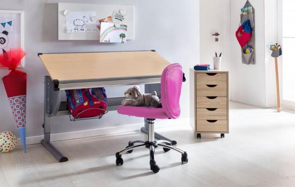 Sie sind auf der Suche nach einem coolen neuen Schreibtischstuhl fuer Ihren Sproessling?  PRAG - der Kinder- &amp  Jugenddrehstuhl von AMSTYLE.  Fuer wen geeignet?  Kinder und Jugendliche im Alter von 6-15 Jahren mit einer Groesse von 120 - 160 cm un