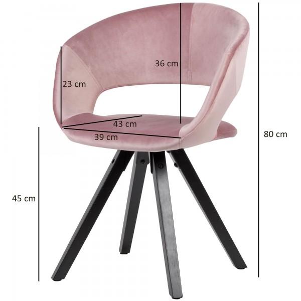 Design  Trendiger Esszimmerstuhl in modernem Design Geschwungene &amp  gepolsterte Sitzschale mit Rueckenlehne Das massive Vierbeingestell rundet das Design gekonnt ab Abmessungen   Breite: 56 cm Hoehe: 80 cm Tiefe: 43 cm Sitzhoehe: 45 cm  Sitzflaech