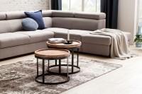 Wofuer geeignet? Das 2er Set kann individuell im Wohnzimmer platziert werden - Die runden Tischplatten bieten ausreichend Platz - Rand aussen an der...