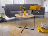 Design  Eindrucksvoller und moderner Couchtisch im dezenten Design Runde Ablageflaeche bietet viel Platz zum Abstellen von diversen Utensilien Edle...