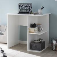 Design  Moderner Computertisch mit zwei Ablage an der Seite Zeitloses Design - perfekter Zuwachs fuer jedes zu Hause Der Tisch bietet diverse...