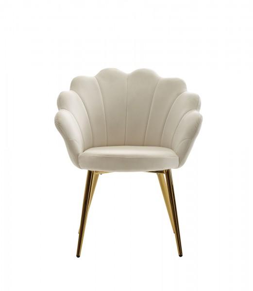 Design  Moderner Esszimmerstuhl in skandinavischem Design Sitzschale mit fest verbundenem Sitzpolster Vier robuste Standbeine als Kontrast zum weichen Samtbezug Abmessungen   Breite: 47,5 cm Hoehe: 80 cm Tiefe: 53 cm Sitzhoehe: 47 cm Sitzflaeche (BxT