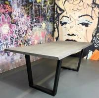 Massivholztisch Akazie Grau/lackiert 200 x 100 cm