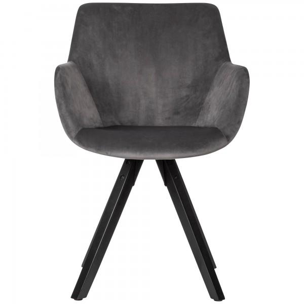 Design  Moderne Esszimmerstuehle mit edlem Samtbezug Die Sitzschalen sind mit praktischen Armlehnen ausgestattet Vier massive Standbeine als Kontrast zum weichen Stoff Abmessungen  Breite: 54 cm Hoehe: 85 cm Tiefe: 58 cm Sitzhoehe: 50 cm  Sitzbreite