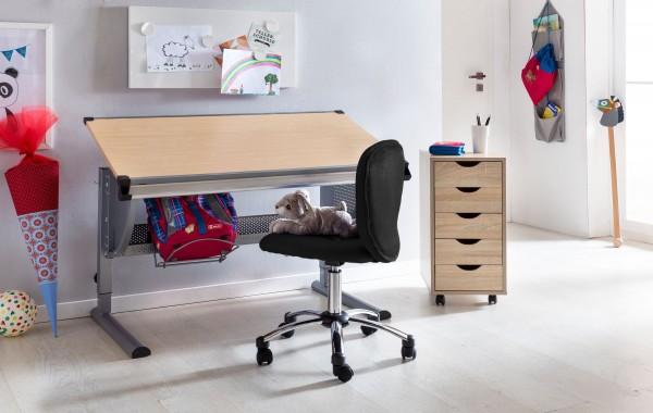 Sie sind auf der Suche nach einem coolen neuen Schreibtischstuhl fuer Ihren Sproessling?  ANNA - der Kinder- &amp  Jugenddrehstuhl von AMSTYLE.  Fuer wen geeignet?  Kinder und Jugendliche im Alter von 6-15 Jahren mit einer Groesse von 120 - 160 cm un