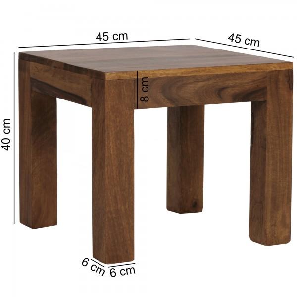 Sie sind auf der Suche nach einem modernen und praktischem Couchtisch fuer Ihr Zuhause? Massivholz Couchtische von WOHNLING.   Wofuer geeignet? Mit einer Breite von 45 cm und einer Tiefe von 45 cm bietet er ausreichend Abstellmoeglichkeiten und sorgt