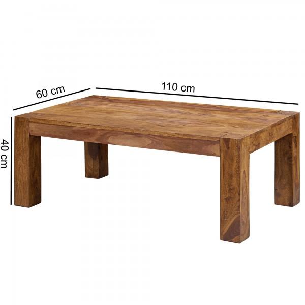 Sie sind auf der Suche nach einem modernen und praktischem Couchtisch fuer Ihr zuhause? Massivholz Couchtische von WOHNLING.   Wofuer geeignet? Mit einer Breite von 110 cm und einer Tiefe von 60 cm bietet er genuegend Abstellmoeglichkeiten um einen s