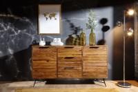 Design  Aussergewoehnliches Sideboard im modernen Industrial-Look Grosse Kommode mit 3 Schubladen und 2 Tueren Abmessungen  Breite: 160 cm Hoehe: 88 cm...